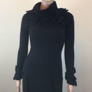 Gorgeous Adam Lippes navy wool sweater, Sz. S